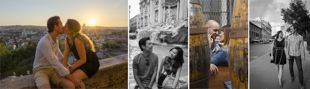 Photo shoots for couples in Rome