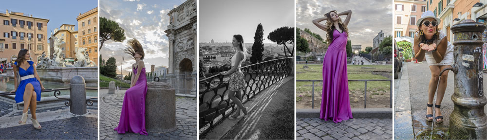 Fashion shoots in Rome