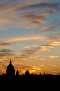 Oriental sunset in Rome